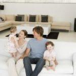 Familie-Hausbau
